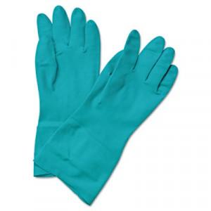 "Glove Nitrile Flock Lined 13"" 15-18mil Green Medium 12/DZPR"