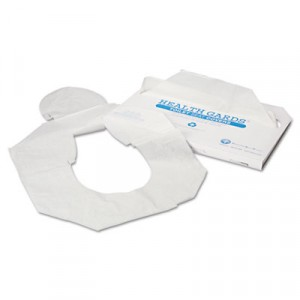 Health Gards Toilet Seat Covers, White, Paper, Half-Fold, 250 Covers/Pack