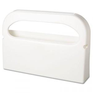 Toilet Seat Cover Dispenser, Plastic, White, Half-Fold, 16w x 3-1/4d x 11-1/2h