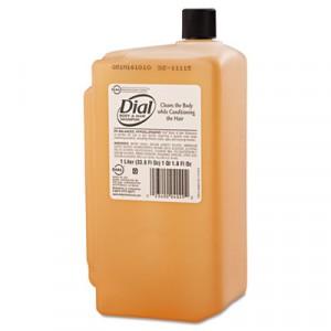 Body & Hair Shampoo, Peach Scent, Clear Amber, 1 Liter Cartridge