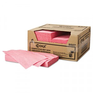 Wet Wipes, 13 1/2x24, White/Pink