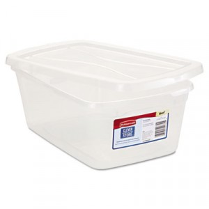 Clever Store Snap-Lid Container, 1.625gal, Clear