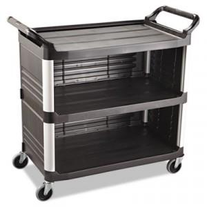 Xtra Utility Cart, 300-lb Cap., 3 Shelves, 20w x 40 5/8d x 37 4/5h, Black