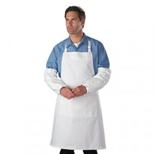 Tyvek Sleeves, HD Polyethylene, White, One Size Fits All