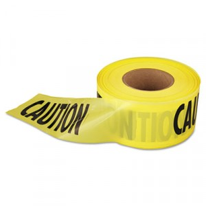 Caution Barricade Tape, 3 in x 1000 ft