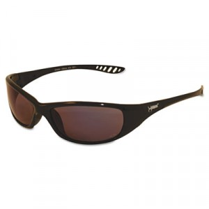 JACKSON SAFETY V40 HellRaiser Safety Glasses, Black Frame/Amber Lens, UV