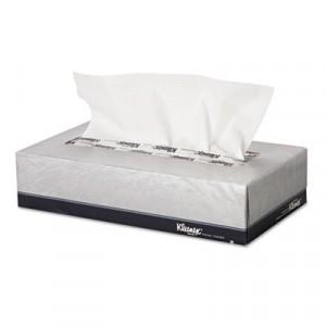 KLEENEX White Facial Tissue, 2-Ply, 100/Box