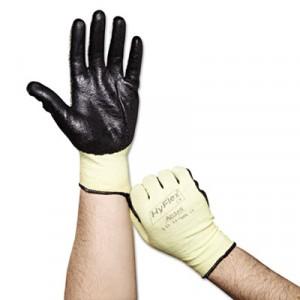 HyFlex Medium-Duty Assembly Gloves, Gray/Green, Size 10 (X-Large)