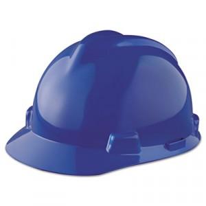 V-Gard Hard Hats, Staz-On Pin-Lock Suspension, Blue