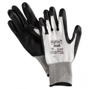 HyFlex Dyneema Cut-Protection Gloves, Gray, Size 10 (X-Large)
