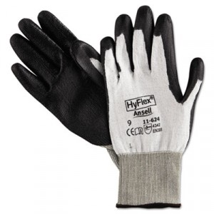 HyFlex Dyneema Cut-Protection Gloves, Gray, Size 9 (Large)