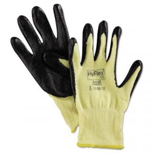 HyFlex 500 Light-Duty Gloves, Size 8 (Medium), Kevlar/Nitrile, Yellow/Black