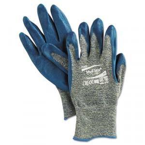 HyFlex 501 Medium-Duty Gloves, Size 11 (2X-Large), Kevlar/Nitrile, Blue/Green