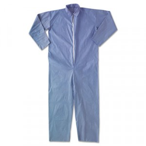 KLEENGUARD A65 Flame-Resistant Coveralls, Blue, X-Large