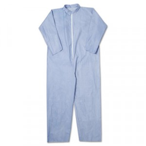 KLEENGUARD A65 Flame-Resistant Coveralls, Blue, 3X-Large
