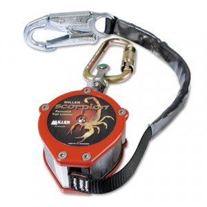 Scorpion Personal Fall Limiter, Carabiner/Swivel Shackle, 9ft, 310lb Capaci