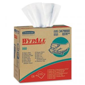 Wipe 9.1x16.8 WypAll X60 Teri Reinforced White 126/PKG 12/CS