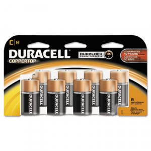 Coppertop Alkaline Batteries, C