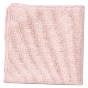 Microfiber Cleaning Cloths, 16x16, Red