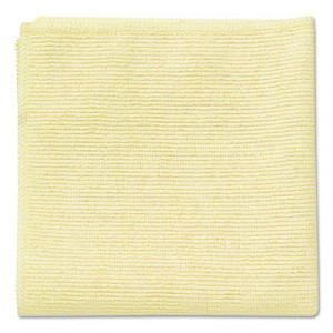 Microfiber Cleaning Cloths, 16x16, Yellow
