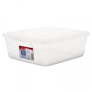 Clever Store Snap-Lid Container, 3.75gal, Clear