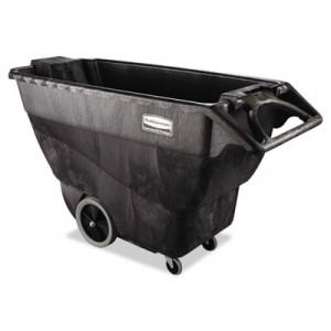 Heavy-Duty Utility Cart, 500-lb Cap., 2 Shelves, 25 7/8x45-1/4x37-1/8, Black