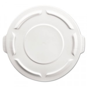 Round Brute Flat Top Lid, 19 7/8x1 4/5, White