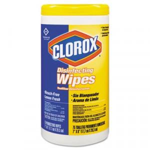 Wipe Clorox Disinfecting Lemon Scent 75 wipes 6/CS