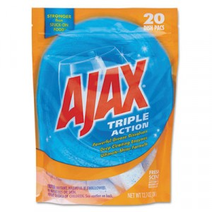 Triple Action Automatic Dishwasher Detergent Packs, Fresh Scent