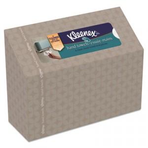 KLEENEX Folded Hand Towels, White, in Dispenser Box