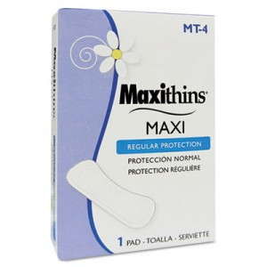 """Maxithins Pads Full Protection folded fit in 4"""" box 250/CS"""
