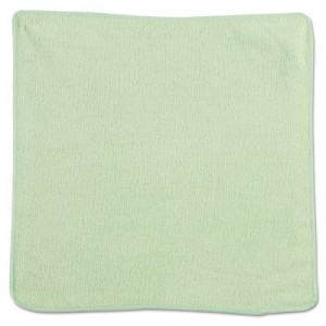 Microfiber Cleaning Cloths, 12x12, Green