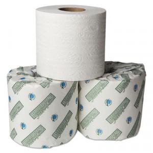 Green Plus Embossed Bathroom Tissue, 1-Ply, 550 Sheets, White