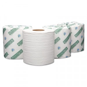"Green Plus Embossed Bathroom Tissue, White, 4"" x 3 3/4"" Sheet"