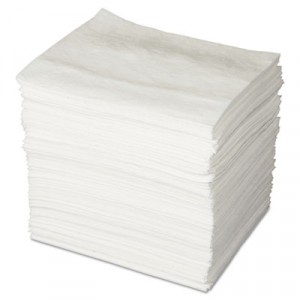 ENV MAXX Enhanced Oil-Only Sorbent Pads, .16gal, 15w x 19l, White