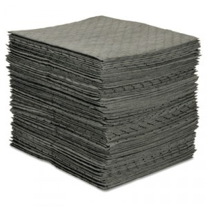 MRO Plus Medium Sorbent Pads, .205gal, 15w x 19l, Gray
