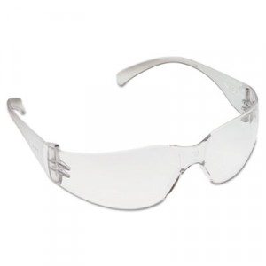 Virtua Protective Eyewear, Clear Frame/Clear Lens, Anti-Fog Hard-Coat