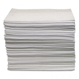 Oil-Only Sorbent Pads, Gray, 15x17