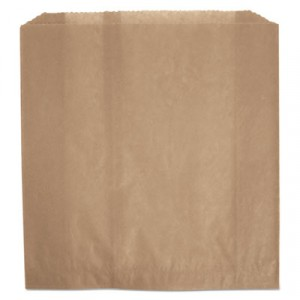 Waxed Napkin Receptacle Liners, 9-3/4x11x3-5/8, Brown