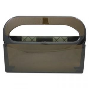 Health Gards Half-Fold Toilet Seat Cover Dispenser, Smoke, 16wx3-1/4dx11-1/