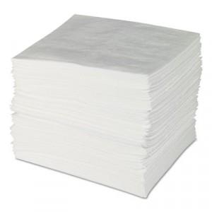 ENV MAXX Enhanced Oil Sorbent Pads, .24gal, 15w x 19l, White