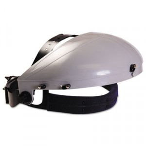 Headgear with Ratchet Adjustment, ABS Plastic, Gray