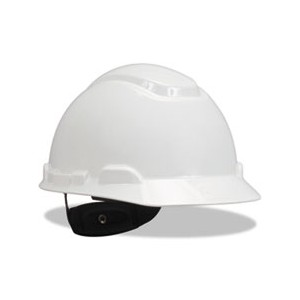 Hard Hat With Four Point Ratchet Suspension White
