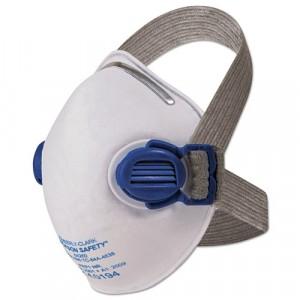 Jackson Safety R10 Particulate Respirator, N95, White w/Gray Straps