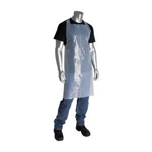 Aprons, White Polyethylene, 1 mil., Smooth, 28in.x46in.