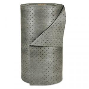 """MRO Plus Medium Sorbent-Pad Roll, 38gal, 30"""" x 150ft, Gray"""