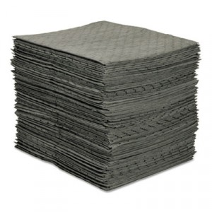 MRO Plus Heavy Sorbent Pads, .26gal, 15w x 19l, Gray