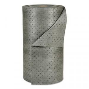 "MRO Plus Heavy Sorbent-Pad Roll, 49gal, 30"" x 150ft, Gray"