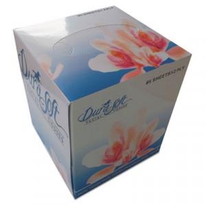 Facial Tissue Cube Box, 2-Ply, White, 85 Sheets/Box
