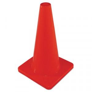 "Safety Cone, Unmarked, Plastic, 18"" Orange"